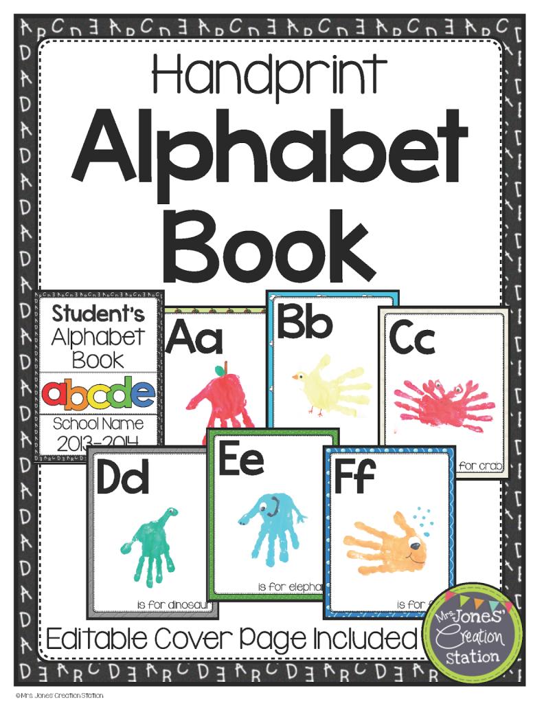 http://www.teacherspayteachers.com/Product/Handprint-Alphabet-Book-1146199