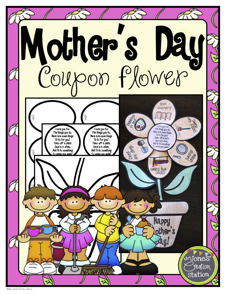 http://www.teacherspayteachers.com/Product/Mothers-Day-Coupon-Flower-683717