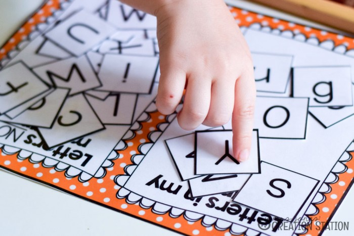 Name letter sort for preschool, pre-k and kindergarten