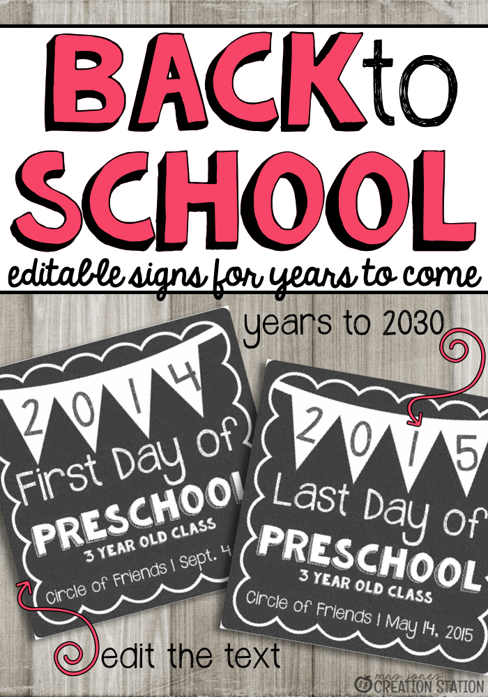 First Day of School Sign Free