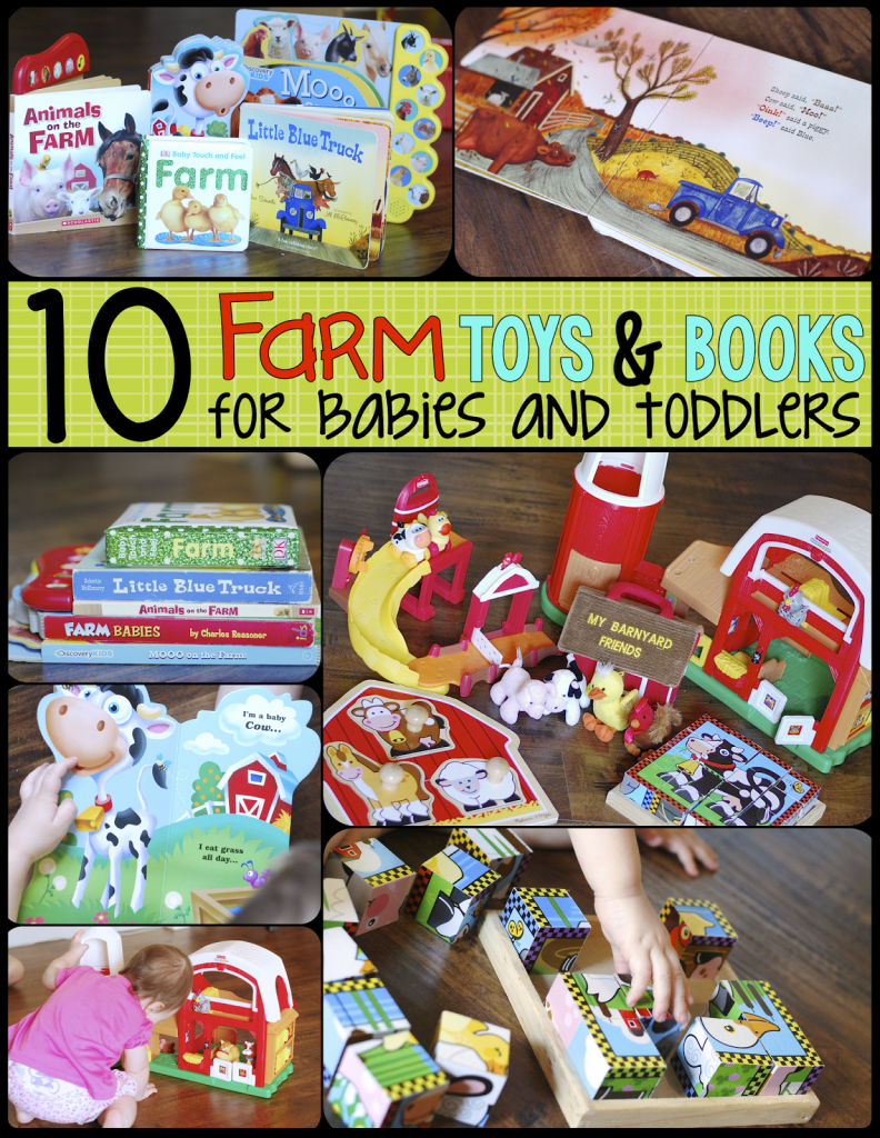 Farm Toys and Books for Babies and Toddlers- Mrs. Jones Creation Station