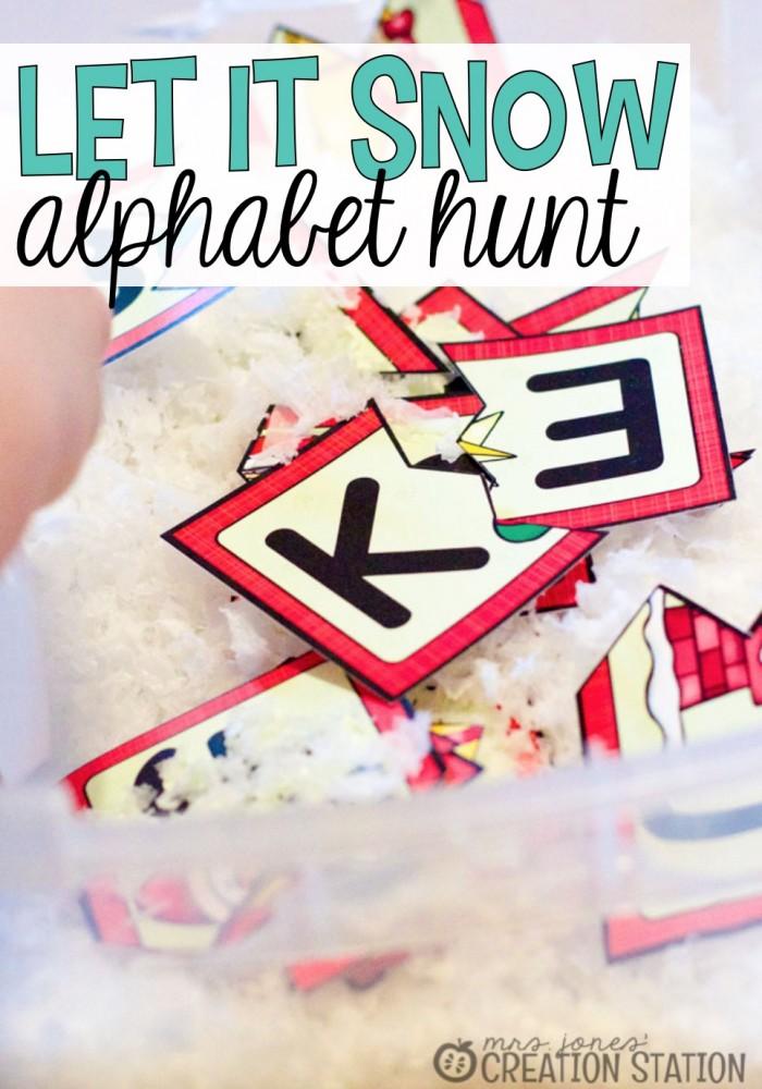 Let it Snow Alphabet Hunt Sensory Tub - MJCS