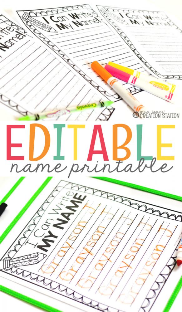 Name Writing Practice - Handwriting FREEBIE - Mrs. Jones ...