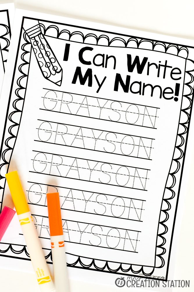Name Writing Practice - Handwriting FREEBIE - Mrs  Jones