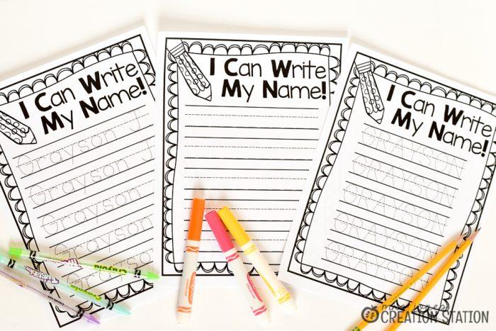 name writing practice handwriting freebie mrs jones creation