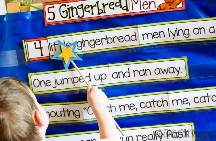 Gingerbread Men Interactive Pocket Chart - MJCS