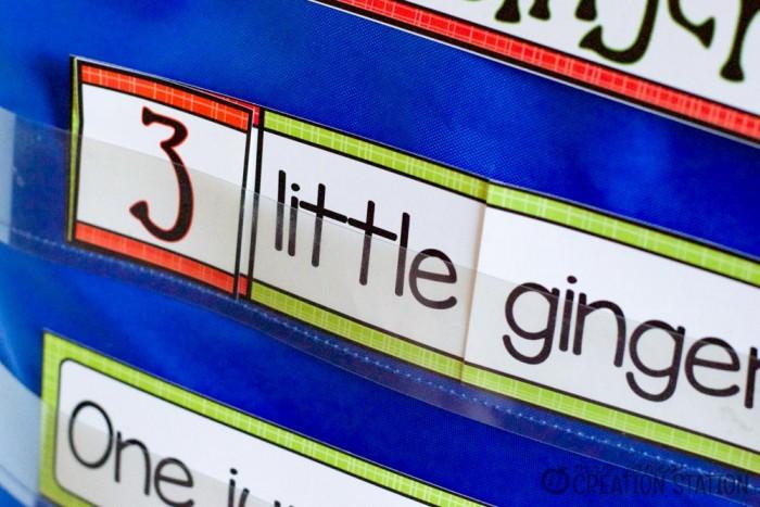 Gingerbread Men Interactive Pocket Chart - MJCS