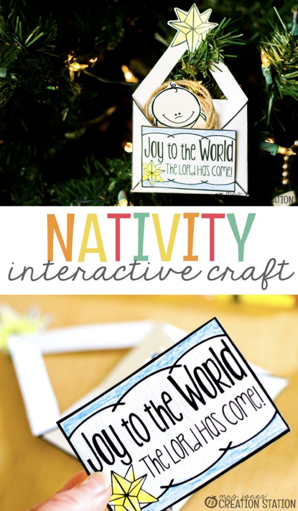Nativity Interactive Craft- Mrs. Jones Creation Station.