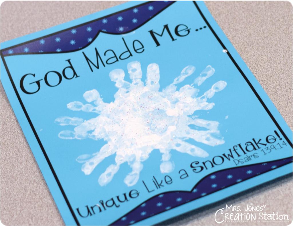 God Made Me Unique Like a Snowflake - Mrs  Jones Creation