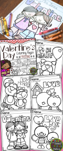 Valentine's Day Coloring Pages {FREEBIE}