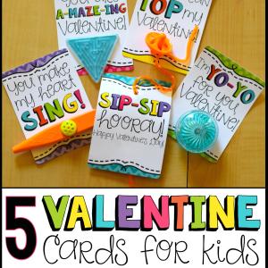 5 Valentine Cards for Kids