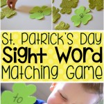 St. Patrick's Day Sight Word Matching Game