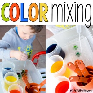 Color Mixing with Little Learners