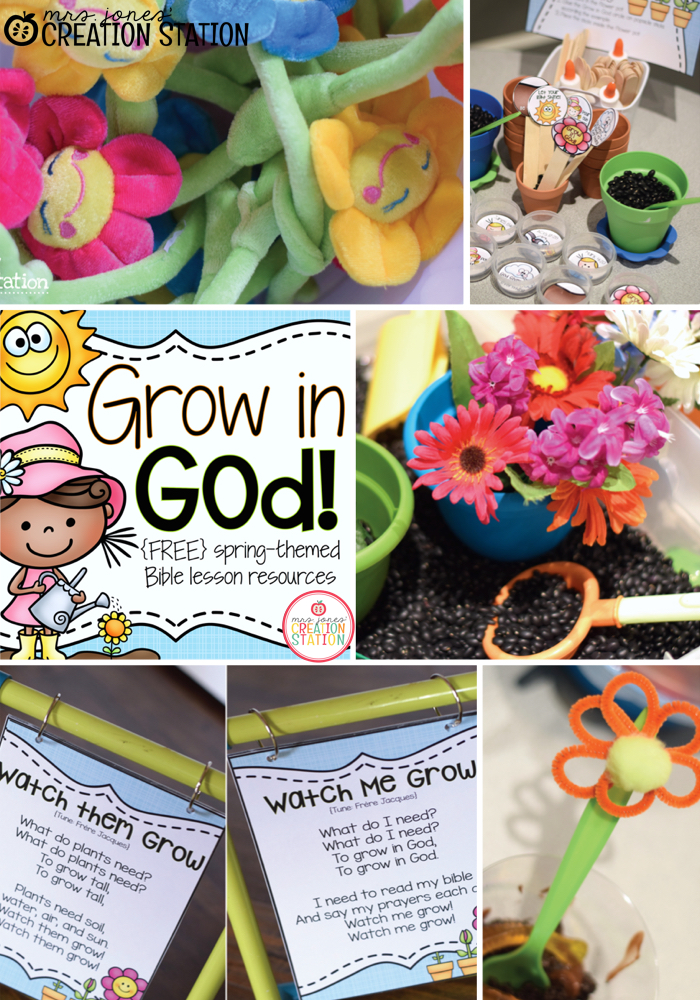 Grow in God Spring Themed Bible Lesson
