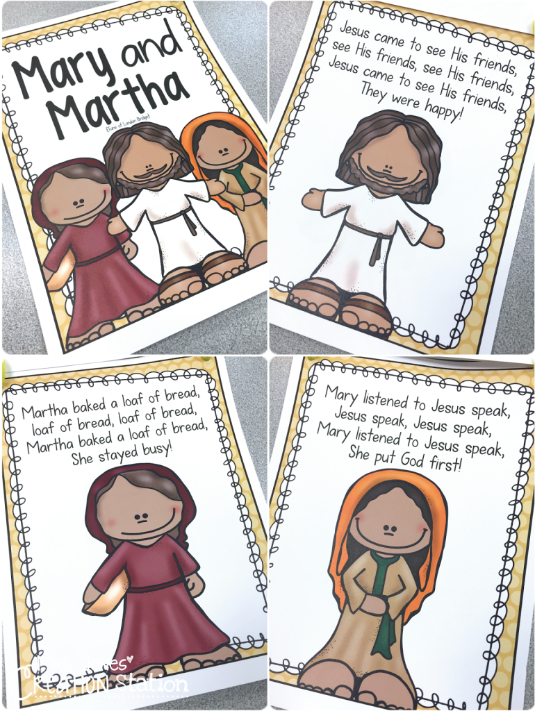 mary and martha preschool bible lesson mrs jones u0027 creation station
