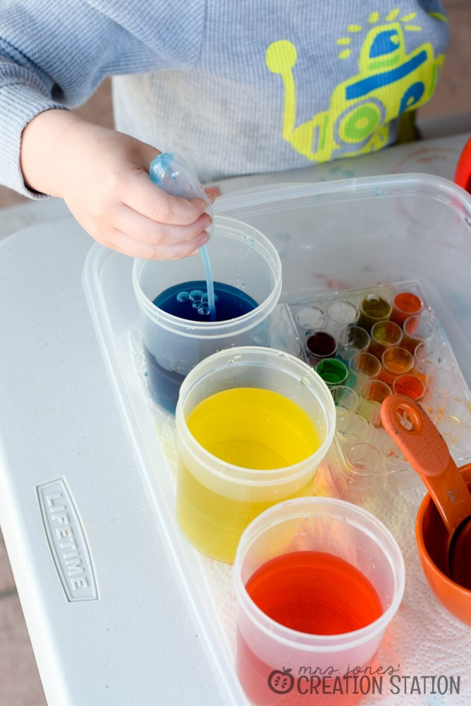 Color Mixing with Little Learners - MJCS