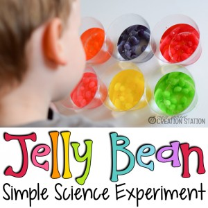 Jelly Bean Simple Science Experiment and FREE printable