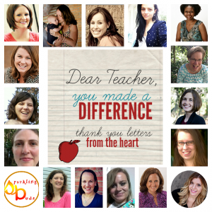 Dear Teacher, You Made A Difference