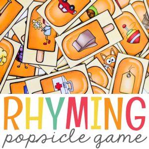 Summer Rhyming Activity