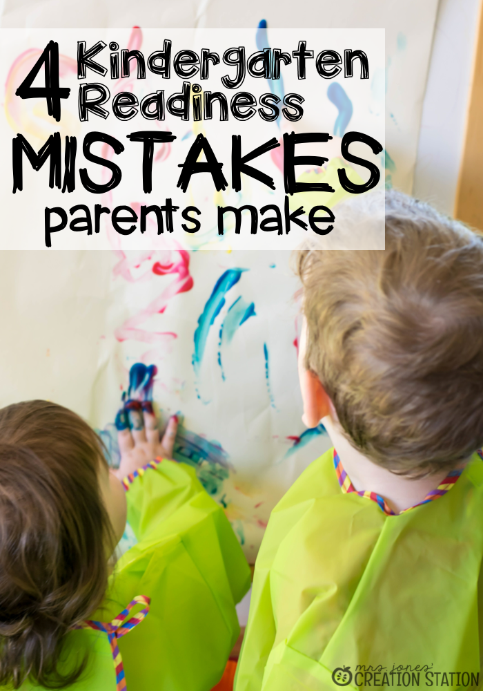 Kindergarten readiness mistakes parents make and how to make sure you don't