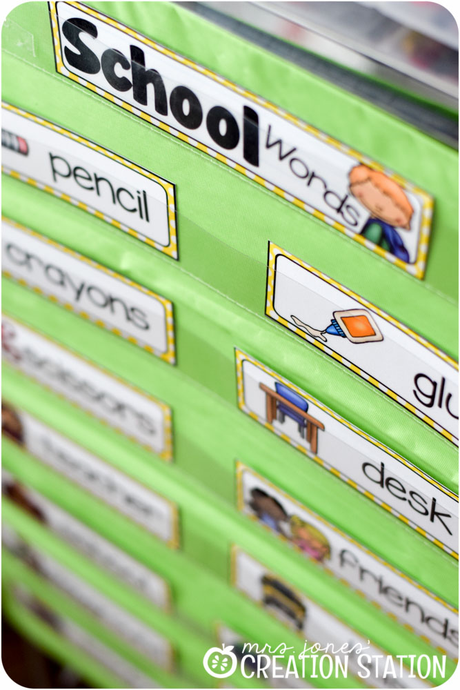 Word Walls Made Easy: A Thematic Word Wall Freebie