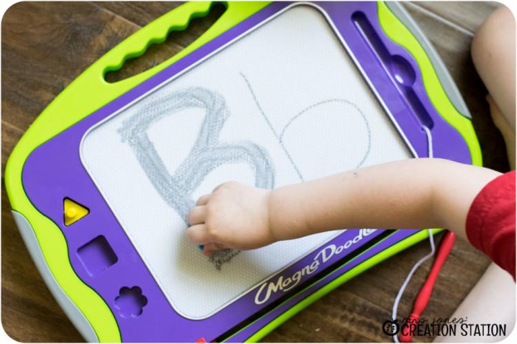 Handwriting for preschool prek kindergarten before pencil grip writing letter B