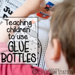 School Supplies: How to Teach Gluing