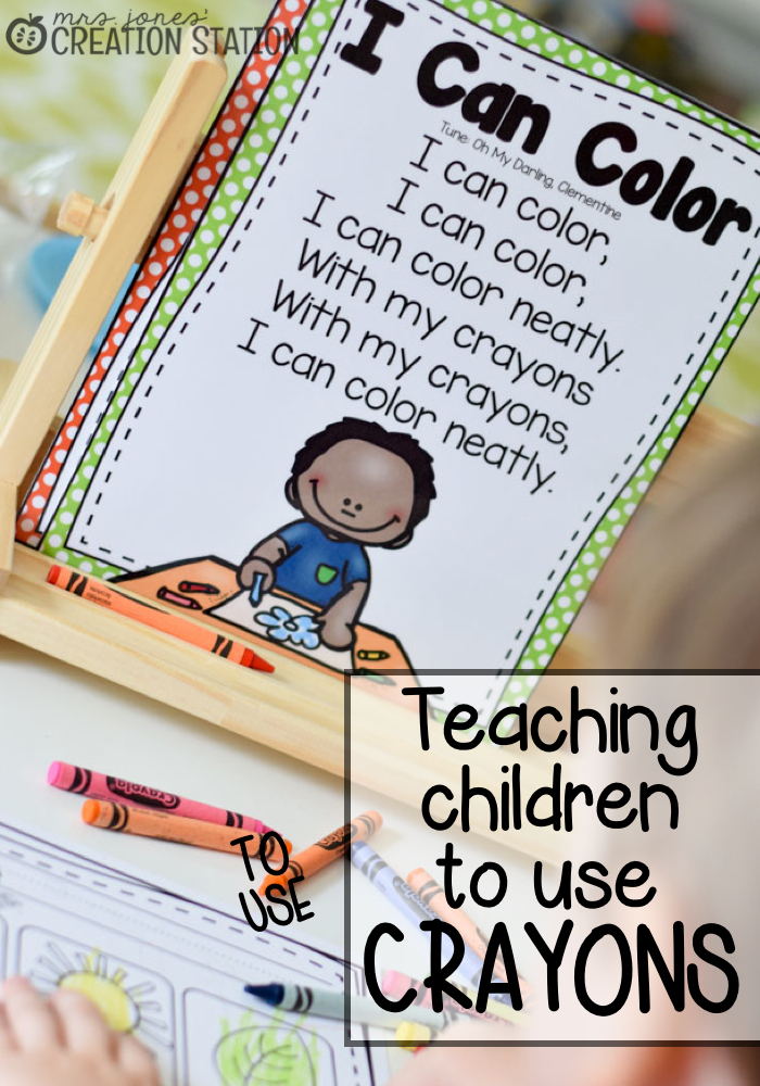 Do your students know how to use crayons at the beginning of the year? Teach them how!