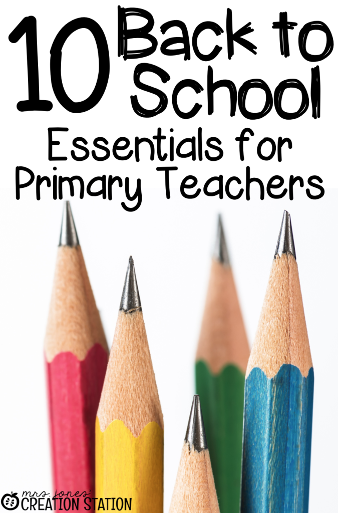 Back to School Teacher Essentials
