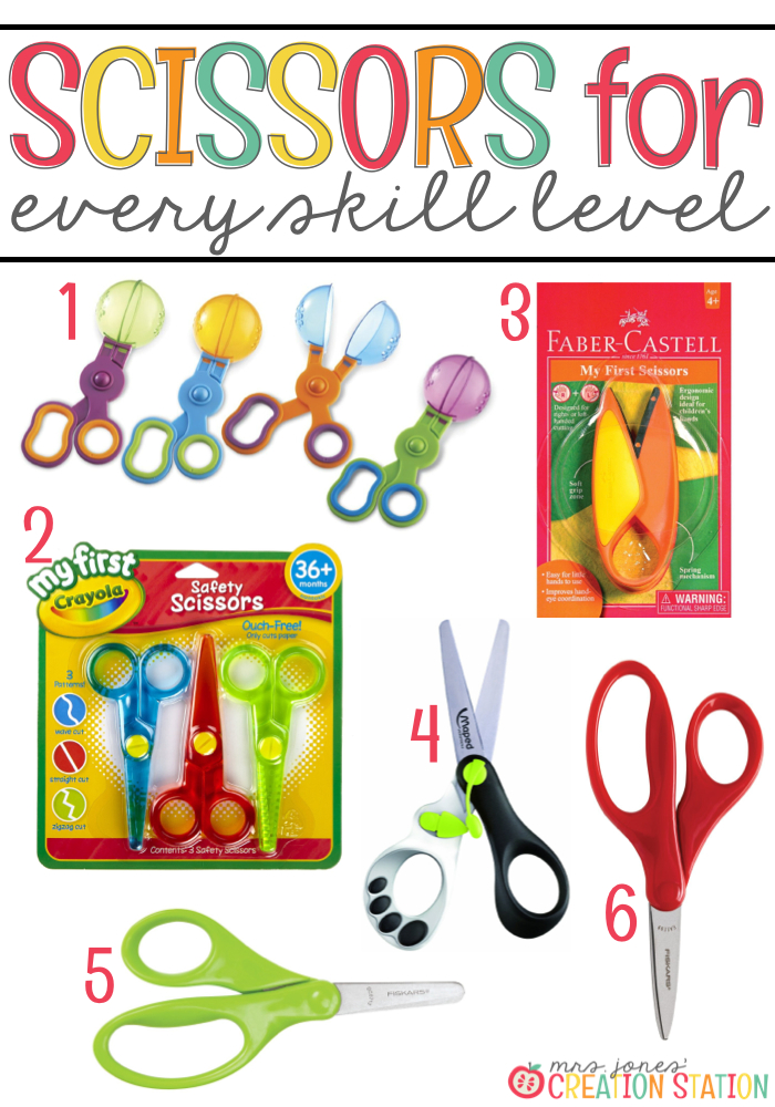 Different types of scissors for different skill levels