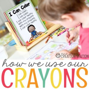 Teaching Children How to Use Crayons
