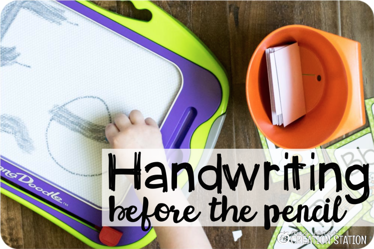 Handwriting for preschool prek kindergarten before pencil grip writing letter