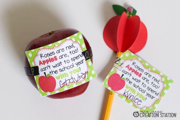 FREE Apple Teacher Gift Tags