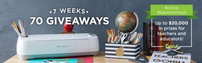 70 Giveaways - 7 Weeks
