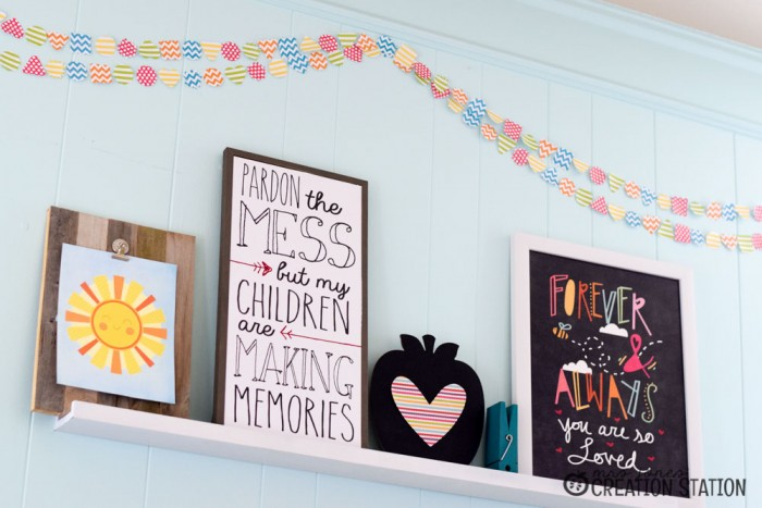 Bright DIY banner with a Cricut Explore and simple touches for homeschool classroom decorations
