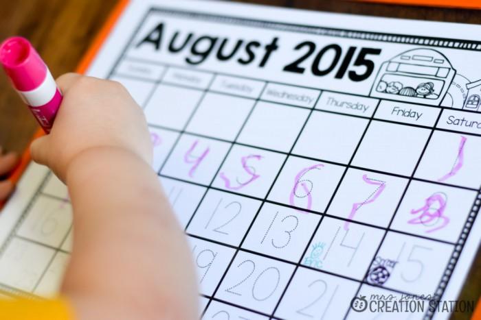 Calendar Instruction