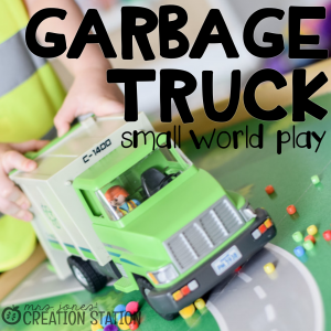 Garbage Truck Small World Pretend Play Idea