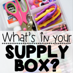 What's in Your Box of Teacher Supplies?