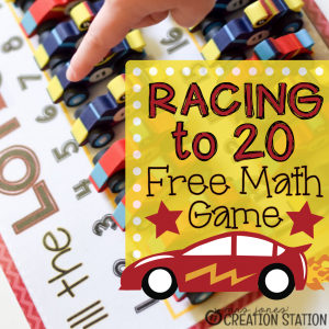 FREE Racing to Kindergarten Math