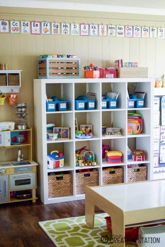 Playroom Homeschool Classroom Combination