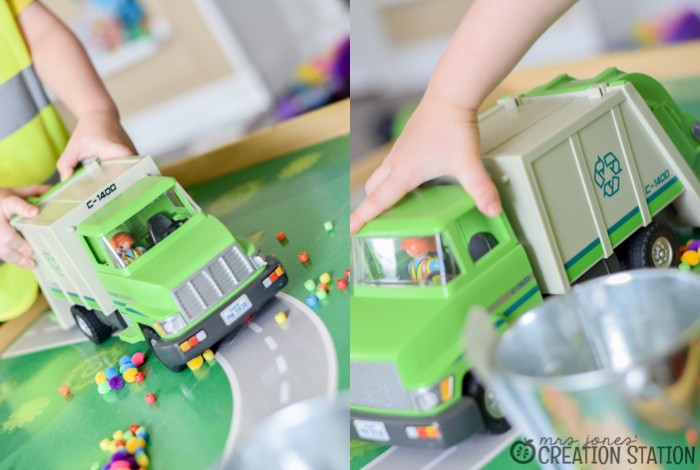 Garbage Truck Small World Pretend Play Idea