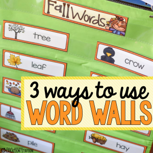 3 Ways to Use Word Walls