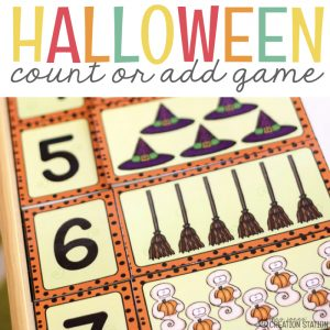 Halloween Counting and Addition Math Game