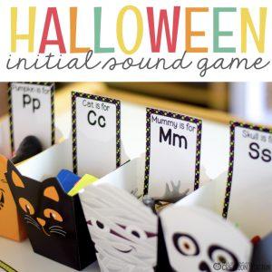 Free Beginning Sound Halloween Literacy Activity