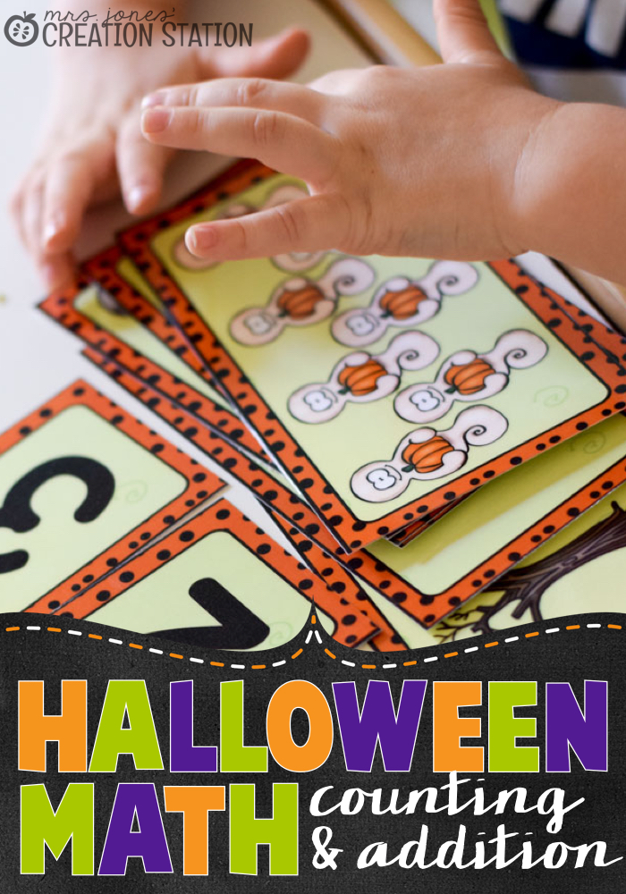 Halloween Math - Counting and Simple Addition