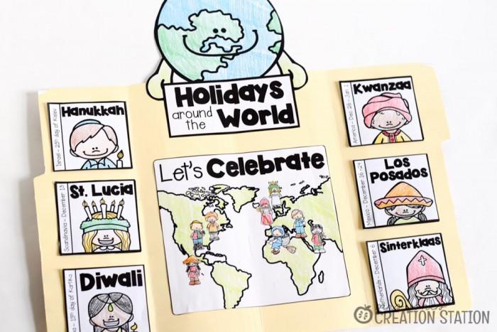 Holidays Around the World Lapbook -MJCS