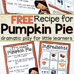 Pumpkin Pie Recipe for Dramatic Play - MJCS