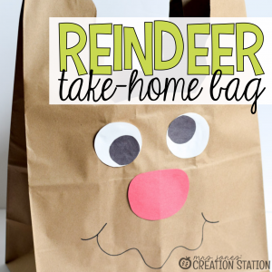 Reindeer Bag for Holiday Crafts