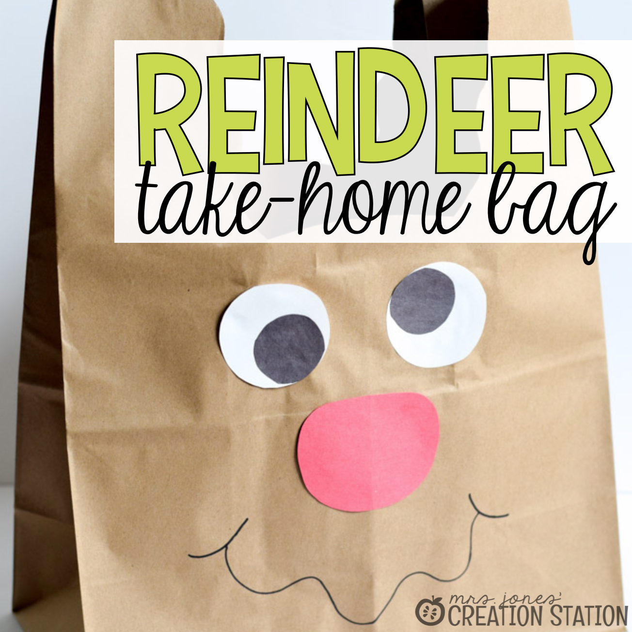 Reindeer Bag for Holiday Crafts