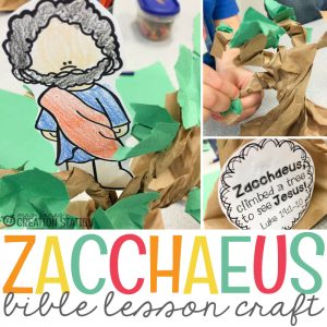 Zacchaeus Bible Craft